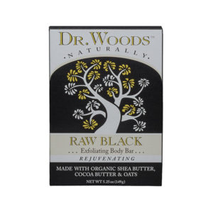 Dr. Woods Raw Black Exfoliating Body Ba