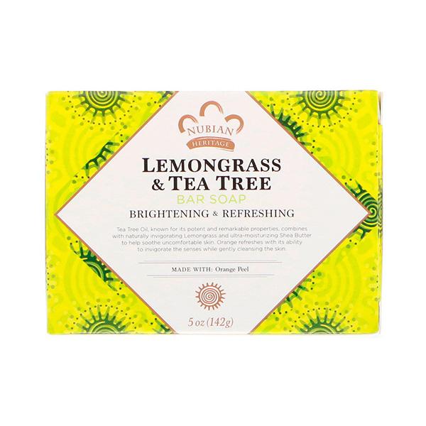 Nubian Heritage, Lemongrass & Tea Tree Bar Soap